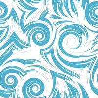 Vector seamless pattern in colore blu isolato su sfondo bianco.