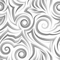 Vector seamless pattern in colore nero isolato su sfondo bianco.