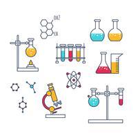 Vettore delle icone di chimica