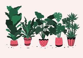 Grande pianta in vaso vettoriale