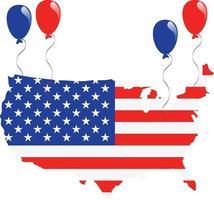 bandiera della mappa degli Stati Uniti vettore