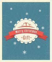 Buon Natale regalo cartolina vintage design. illustrazione vettoriale
