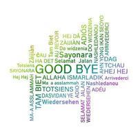 parola ciao salutare persone lingue diverse. comunità internazionale. vettore