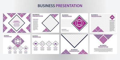modello di progettazione di presentazione aziendale. perfetto per brochure, promozioni di marketing, infografiche, ecc vettore