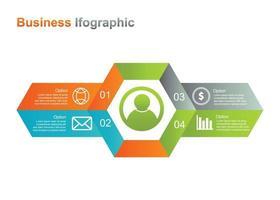 modello di progettazione infograpic aziendale. 4 opzione infografica illustrazione vettoriale. perfetto per marketing, promozione, elemento di design della presentazione vettore