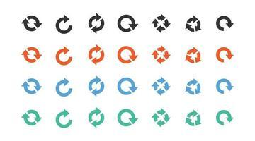 set di vettore icona segno di freccia diversa