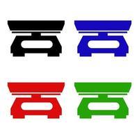 icona della bilancia da cucina sullo sfondo vettore