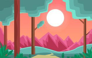 illustrazione di paesaggio del fumetto vettoriale