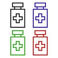 icona di bottiglia medica sullo sfondo vettore
