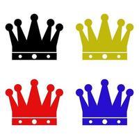 icona della corona sullo sfondo vettore