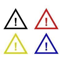 icona del segno di pericolo sullo sfondo vettore