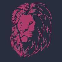 testa di leone rosa illustrazione vettoriale