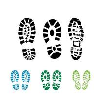 segno di vettore di stampa di scarpe di avvio