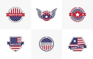 realizzato nel design del modello di logo degli Stati Uniti vettore