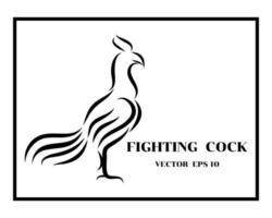 logo del gallo da combattimento eps 10 vettore