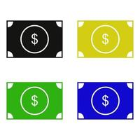 icona del dollaro su sfondo bianco vettore