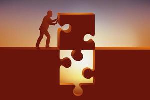 un pezzo di puzzle fornisce la soluzione vettore