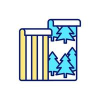 icona di colore rgb carta da parati ecologica vettore