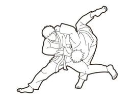azione di lancio di judo vettore