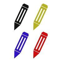 icona della matita sullo sfondo vettore