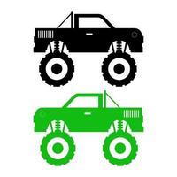 icona di monster truck sullo sfondo vettore