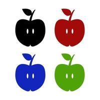 icona della mela sullo sfondo vettore
