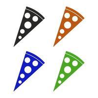 icona di pizza sullo sfondo vettore