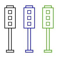 icona del semaforo su sfondo bianco vettore