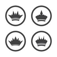 icona di vettore del modello logo corona