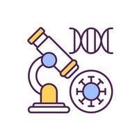 scoprire un nuovo tipo di icona a colori rgb del virus corona vettore