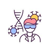 icona di colore rgb specialista di microbiologia vettore