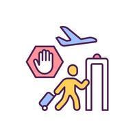 aeroporti smettono di funzionare icona colore rgb vettore