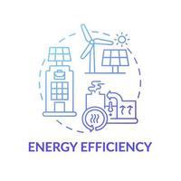 icona del concetto di efficienza energetica vettore
