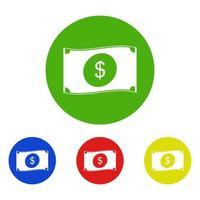 icona dei soldi sullo sfondo vettore