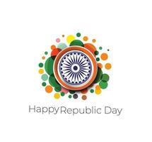 concetto di giorno della repubblica indiana con testo 26 gennaio. vettore