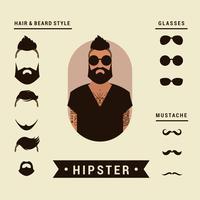 Elementi di hipster vettore