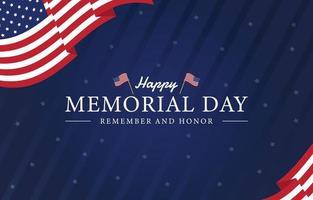 felice giorno della memoria, festa nazionale americana vettore