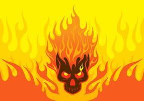 Illustrazione del cranio fiammeggiante vettore