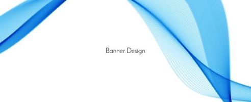 fondo astratto blu moderno della bandiera di progettazione dell'onda vettore