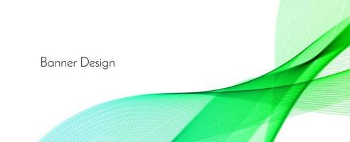 fondo della bandiera di progettazione dell'onda decorativa moderna verde astratta vettore