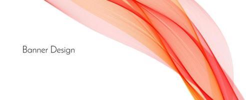astratto rosso moderno decorativo elegante onda banner sfondo vettore