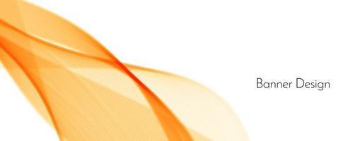 astratto moderno dinamico elegante rosso e giallo motivo decorativo onda banner sfondo vettore