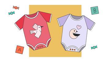 Vettore dei vestiti della neonata