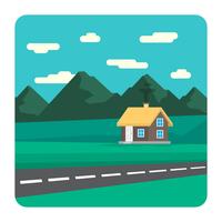 Illustrazione del paesaggio vettore