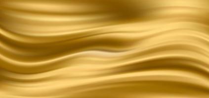 sfondo in tessuto di raso di seta oro. illustrazione vettoriale. eps10 vettore