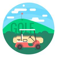 Corso di golf vettore