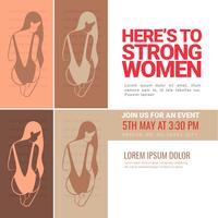Banner di femminismo vettoriale