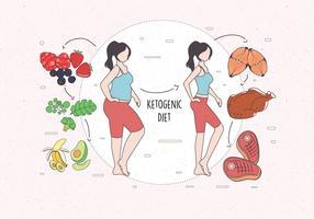 Vettore di dieta chetogenica