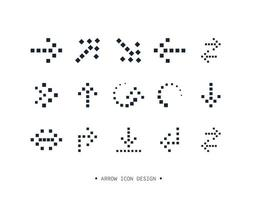 disegno di raccolta di icone freccia. vettore