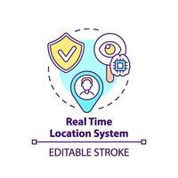 icona del concetto di sistema di posizione in tempo reale vettore
